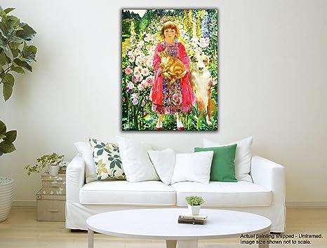 Dipinti Per Soggiorno : Tamatina tela dipinti a girl from heaven olga suvorova arte