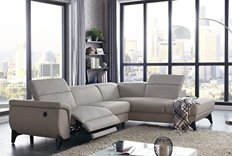 Amazon.com: Modern Sectional Sofa Light Grey Electrical ...