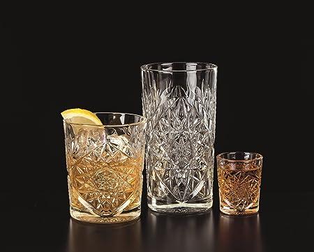 12 bicchieri di whisky in vetro Hobstar da 355 ml