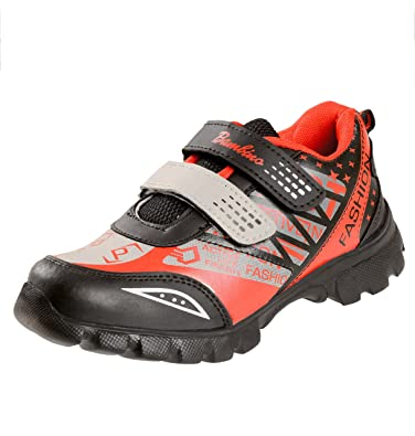 b3b47ef76d7 Liberty Boy s Black and Red Mesh Sports Shoes (11C IND UK 4.5-5 ...