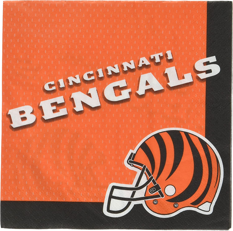 amscan Cincinnati Bengals Collection Luncheon Napkins, 96 Ct.