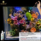 SunGrow Sea Squirt Feeder- Accurate Dispensing Spot Feeder for Coral, Anemones, Eels, Lionfish, Other Organisms - Keeps Hands Dry While Feeding - Target Liquid Feeding Prong