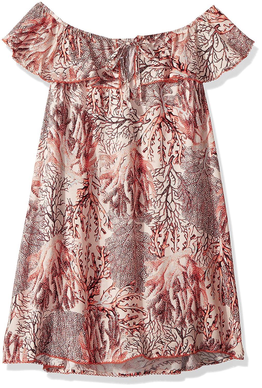 Maaji Girls Printed Ruffle Shoulder Cover Up Dress
