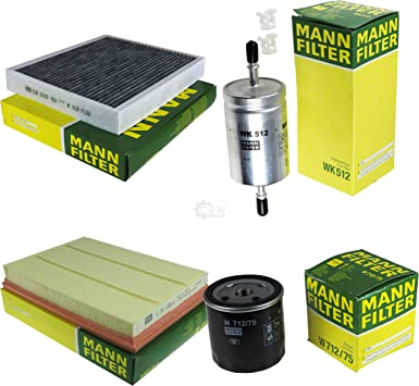 Mann Filter Inspektions Set Inspektionspaket Luftfilter Ölfilter Innenraumfilter Kraftstofffilter Auto