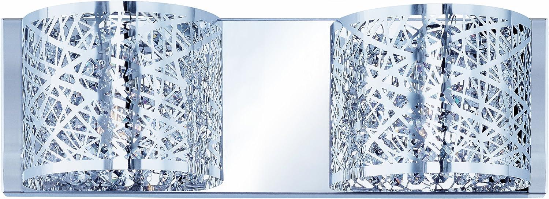Polished ChromeFinish,15.75-Inchby5-Inch Maxim Lighting ET2 Lighting E21315-10PC//BUL Inca Bath Vanity Light Fixture