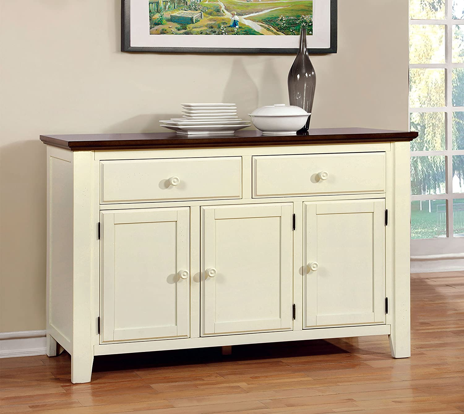 Beau Amazon.com   Furniture Of America Pauline Cottage Style Dining Buffet Server    Buffets U0026 Sideboards