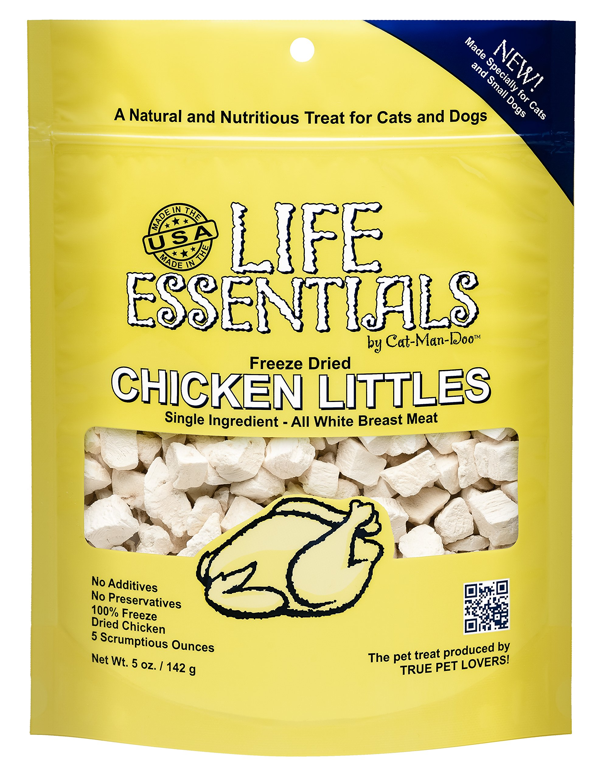 LIFE ESSENTIALS BY CAT-MAN-DOO Freeze Dried Chicken Little's for Dogs & Cats -5 oz by LIFE ESSENTIALS BY CAT-MAN-DOO