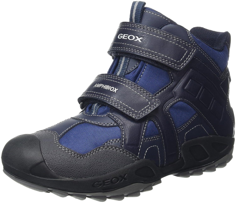 Geox J New Savage Boy B ABX A, Chaussures avec Fermeture Velcro garçon H31GEOX043