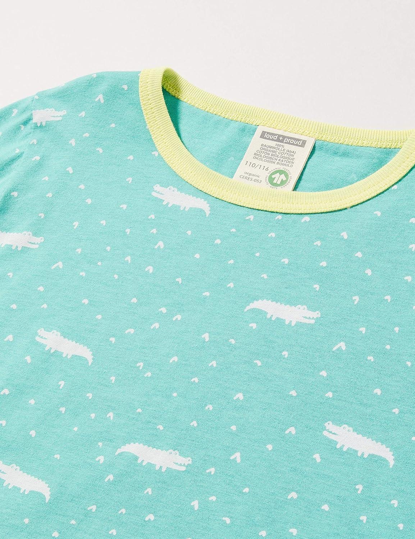proud Longsleeve Shirt Allover Print Organic Cotton Maglia a Maniche Lunghe Bambina loud