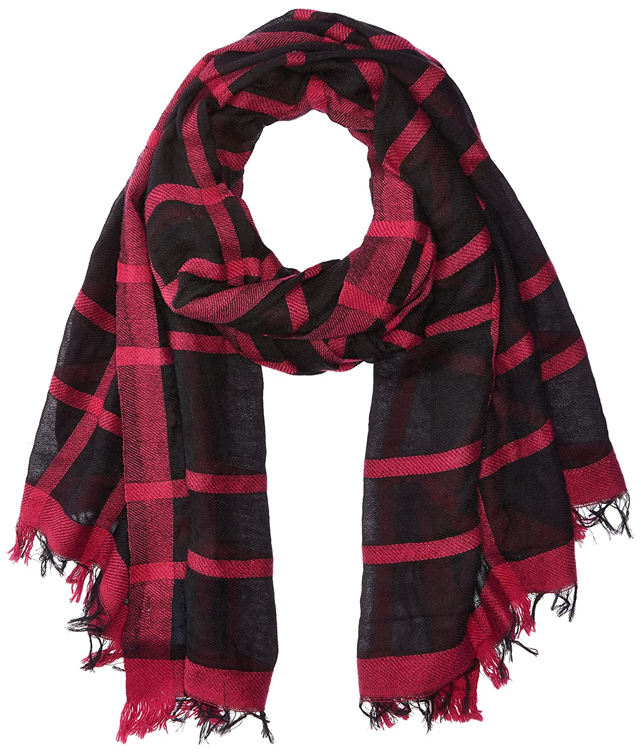 Armani Jeans Women's Plaid Woven Scarf black One Size 9241767A112