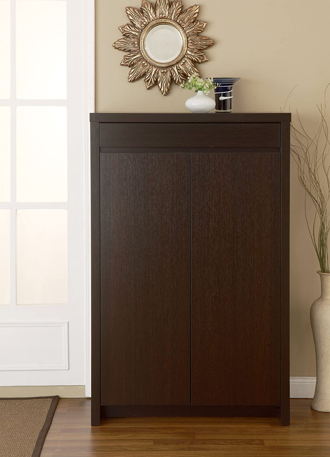 Elegant Amazon.com: IoHOMES Zoe 5 Shelf Shoe Cabinet With Drawer, Cappuccino:  Kitchen U0026 Dining Pictures Gallery