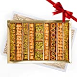 HL Assorted Sweets Gift Box - Baklava, Pistachio and Almond - Authentic Middle East Sweets - Elegant Gift Box (Assorted, Extr