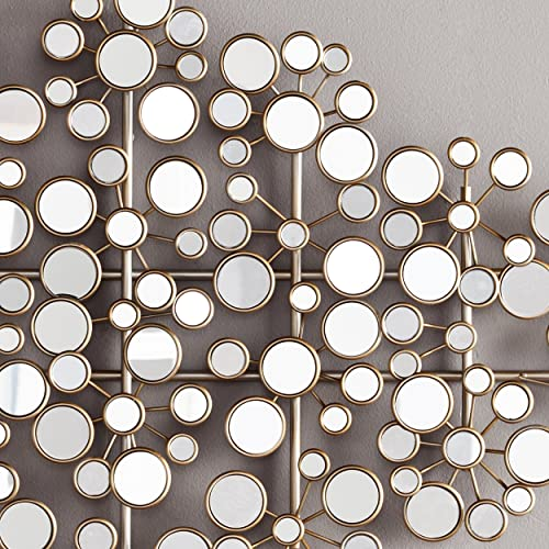 SEI Furniture Oblishen Mirrored Metal Wall Sculpture
