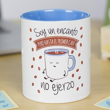 La Mente Es Maravillosa Taza Con Frase Y Dibujo Regalo Original Y Gracioso Soy Un Encanto Pero Hasta El Primer Café No Ejerzo Taza Diseño Café
