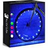 Activ Life LED Bike Wheel Lights with Batteries Included! Get 100% Brighter and Visible from All Angles for Ultimate…