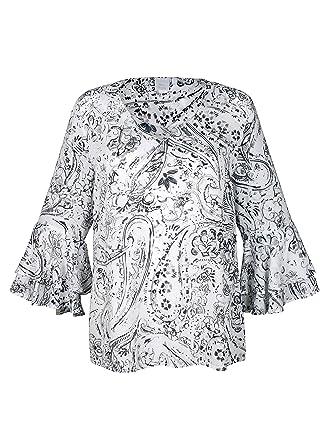 d39fb00a522a Alba Moda Damen Bluse mit exklusivem Print  Amazon.de  Bekleidung