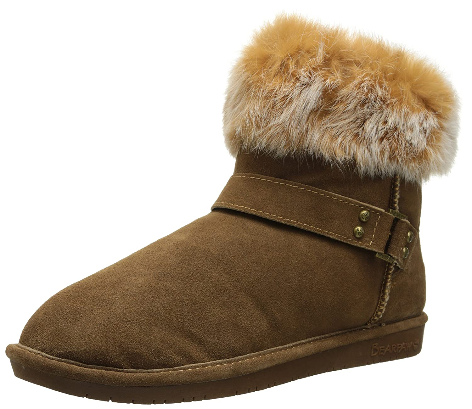 Bearpaw Womens EMMA SHORT Round Toe Suede Cold Weather Boots B00J95XJ9G 10 B(M) US Hickory Multi Fur Hickory Multi Fur 10 B(M) US