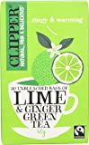 Clipper Fairtrade Green Tea with Lime and Ginger 20 Teabags (Pack of 6)