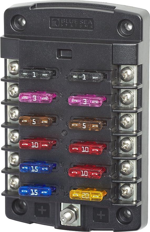 Blue Sea Systems ST Blade ATO/ATC - Bloques de fusibles 6 circuitos, con tapa beige: Amazon.es: Deportes y aire libre
