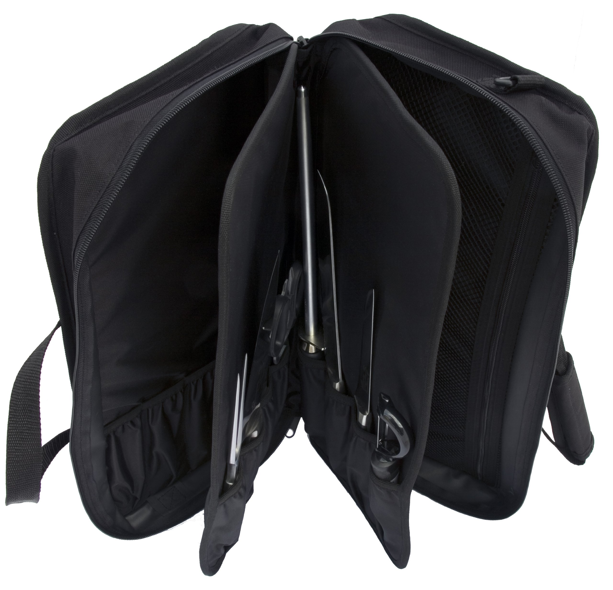 Messermeister 34-Pocket Chef's Satchel with Large Storage Pocket, Black by Messermeister (Image #2)