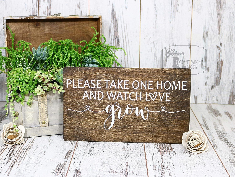 Rustic Wedding Signs.Amazon Com Watch Love Grow Wedding Sign Succulent Favors Sign