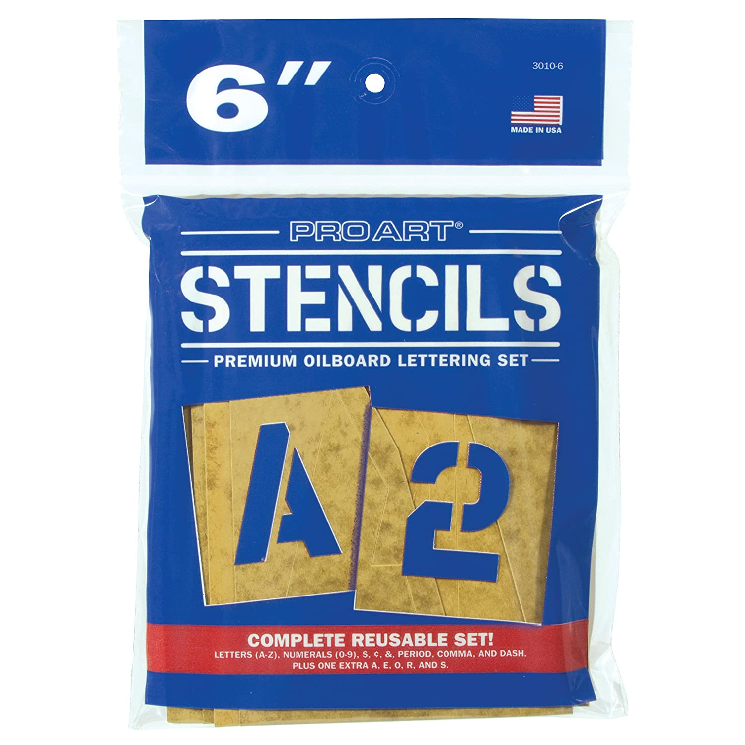 Pro Art 5-Inch Painting Stencil Set Letters and Numbers
