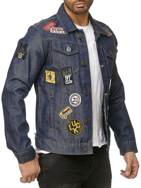 38f97fd356 Uomo: abbigliamento Cappotti e giacche Redbridge Uomo Slim-Fit Cotone  Cappotto lungo giacca Jacket By Cipo Baxx