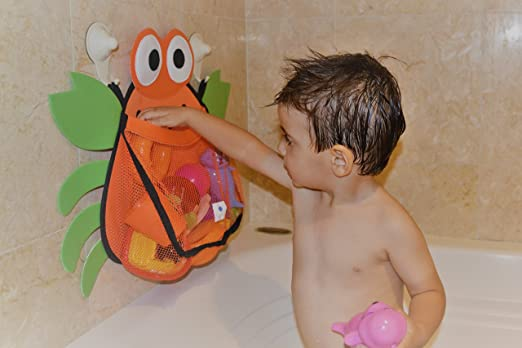Amazon.com: Crab Bath Net Organizer for Infant Toddler and Baby Toys ...