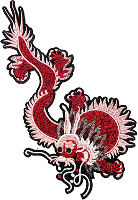 Parche con diseño de dragón chino Kung Fu Yin Yang de 14 pulgadas ...