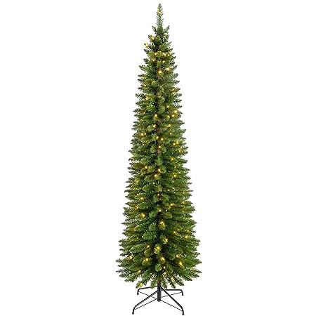 WeRChristmas Pre-Lit Pencil Christmas Tree with 180 LED Lights, 6.5 ...