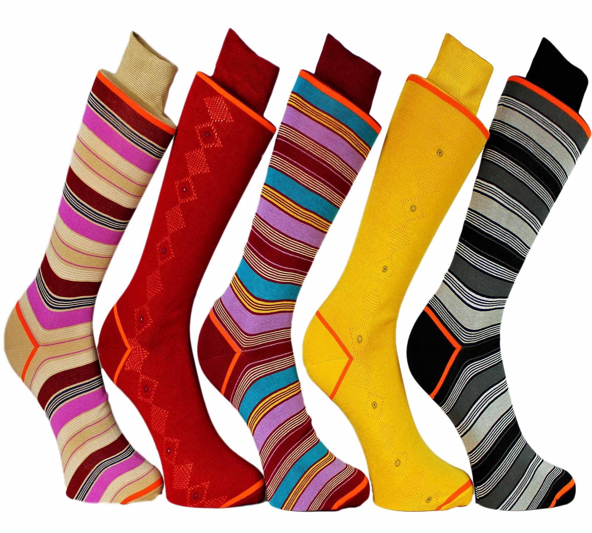 Stanley Lewis Jumbo Jim's Box of Men's Socks - 5 Pair by Stanley Lewis