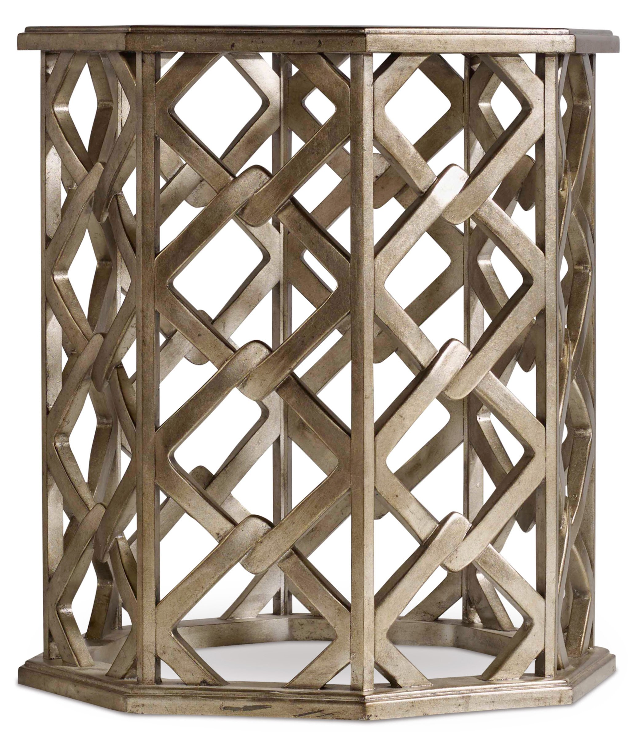 Harris & Terry Taylor End Table, Silver - Glass Top Interlocking base design Transitional Styling - living-room-furniture, living-room, end-tables - 91lsEkzT98L -