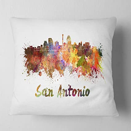 Amazon.com: Designart CU6576-16-16 San Antonio Skyline ...