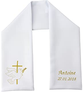 Poussin bleu - Etole baptême, coton blanc, coeur en blanc  Amazon.fr ... 7de80d9ed1c