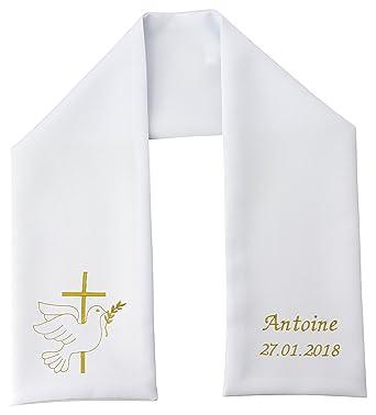 46232beed388 Boutique Magique Etole Echarpe de Baptême Personnalisée et Brodée   Amazon.fr  Vêtements et accessoires