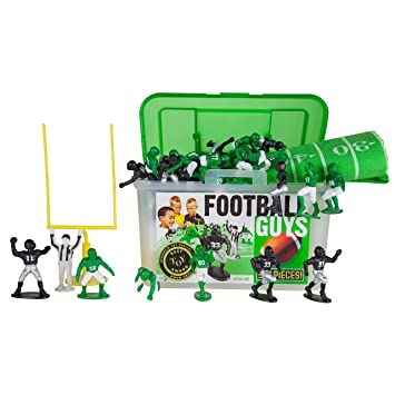 Inspires Imagination with Open-Ended Play Kaskey Kids Football Guys: Green vs For Ages 3 and Up Getting Fit 847814028161 Includes 2 Full Teams and More Black