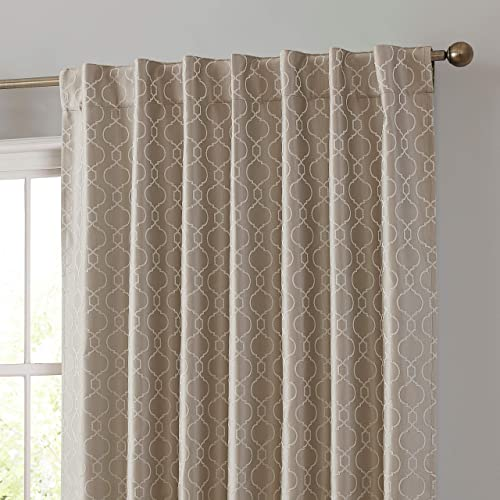 Reviewed: HLC.ME Franklin Moroccan 100 Complete Blackout Thermal Insulated Energy Savings Heat/Cold Blocking Back Tab Rod Pocket Curtain Drapery Panels
