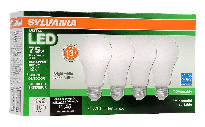 Sylvania Home Lighting 74427 A19 Sylvania Ultra 75W Equivalent LED ...
