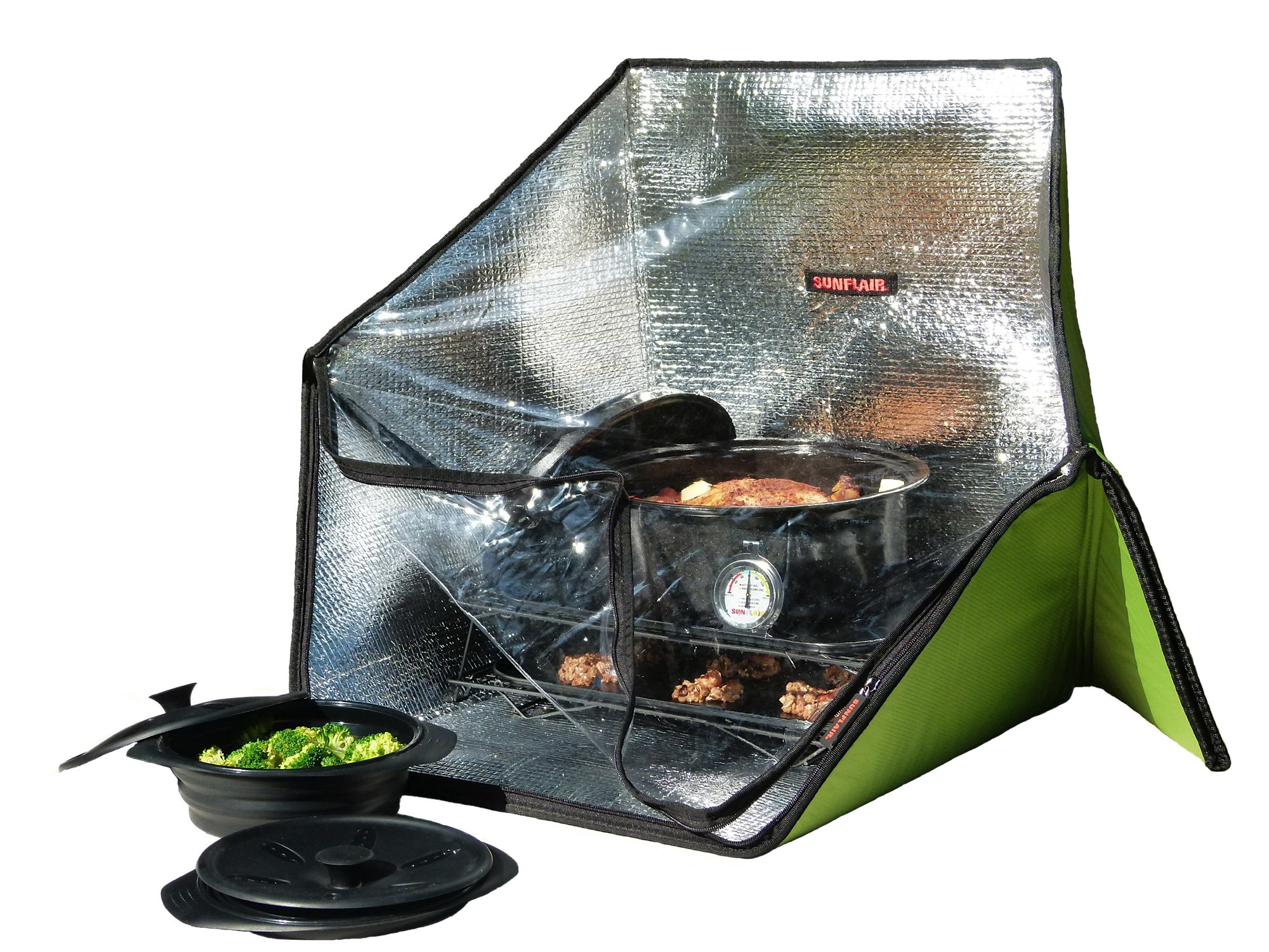 Sunflair Portable Solar Oven Deluxe with Complete Cookware, Dehydrating Racks, and Thermometer - Great for Camping, Outdoor Activities by Sunflair