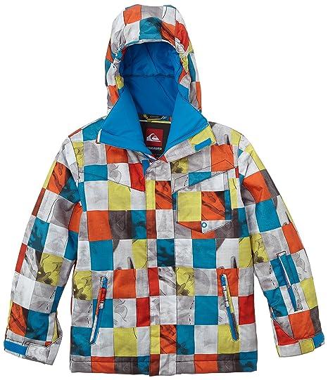 Quiksilver Mission Print Y - Chaqueta de nieve para niño, color naranja, talla M
