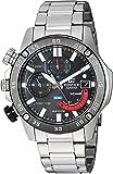 Casio Edifice - Reloj casual de cuarzo, acero inoxidable, tono plateado, para hombre (modelo: EFR-558DB-1AVCF)