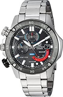 Casio Mens Edifice Quartz Watch with Stainless-Steel Strap, Silver, 20.5 (Model