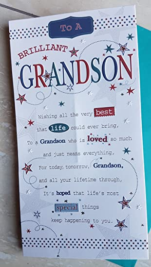 Grandson Birthday Card With Pop Out Centre