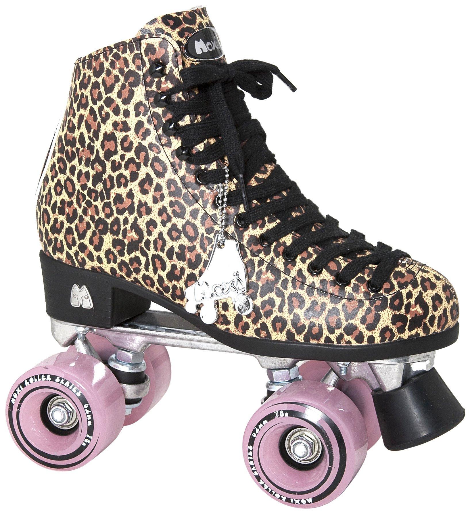 Moxi Roller Skates Ivy Roller Skates,Brown Leopard,5
