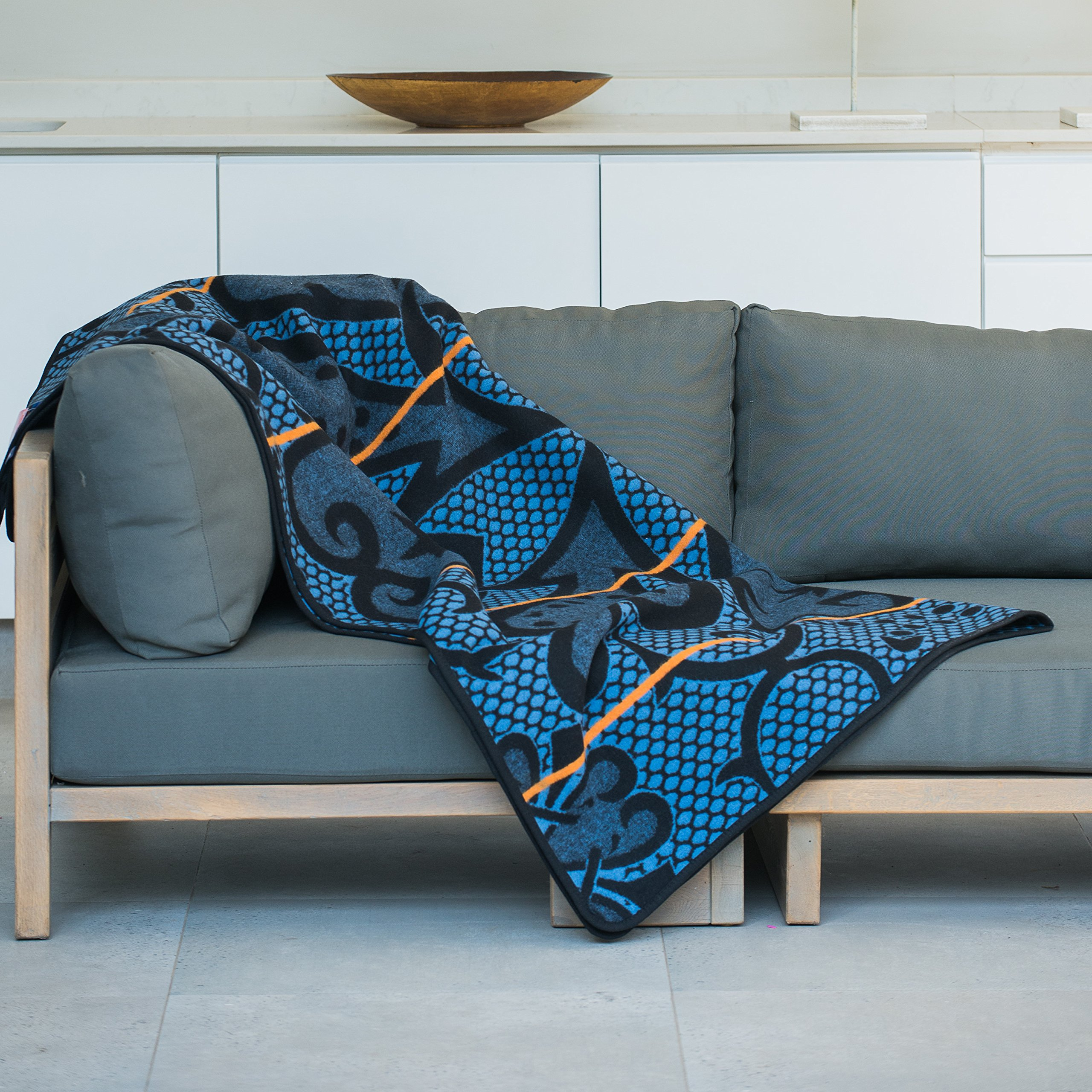 BASOTHO HERITAGE BLANKET - (As seen in Black Panther) Seanamarena Chromatic. (61x 65) Original Quality, Woolen wearing blankets from Lesotho, Southern Africa