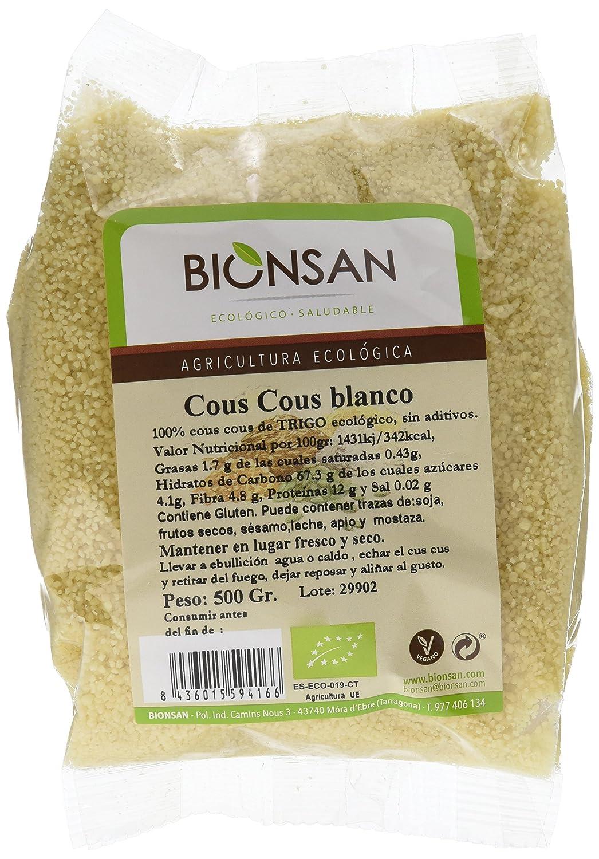 Bionsan Cous Cous Blanco Ecológico | 6 Paquetes de 500 gr ...