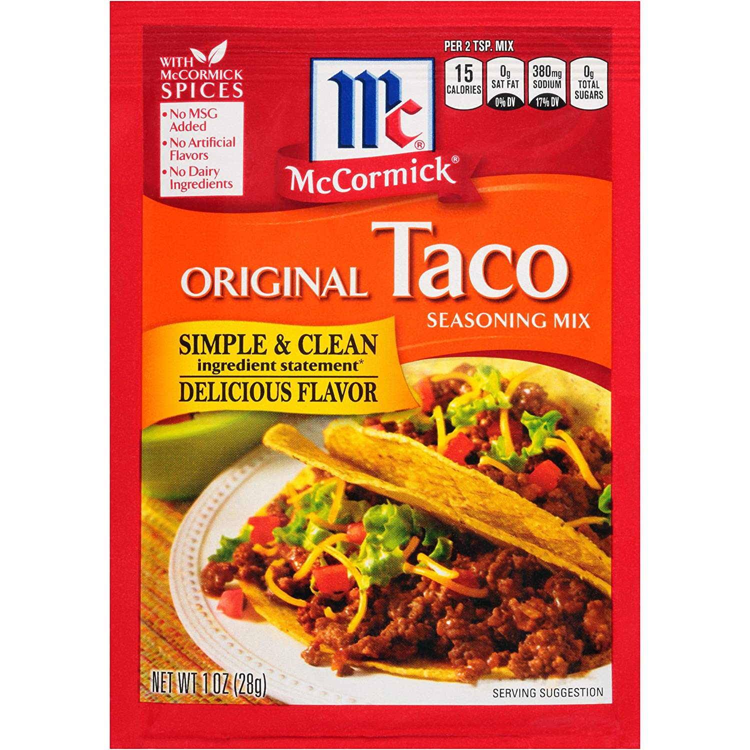 McCormick Original Taco Seasoning Mix Packet, 1 oz