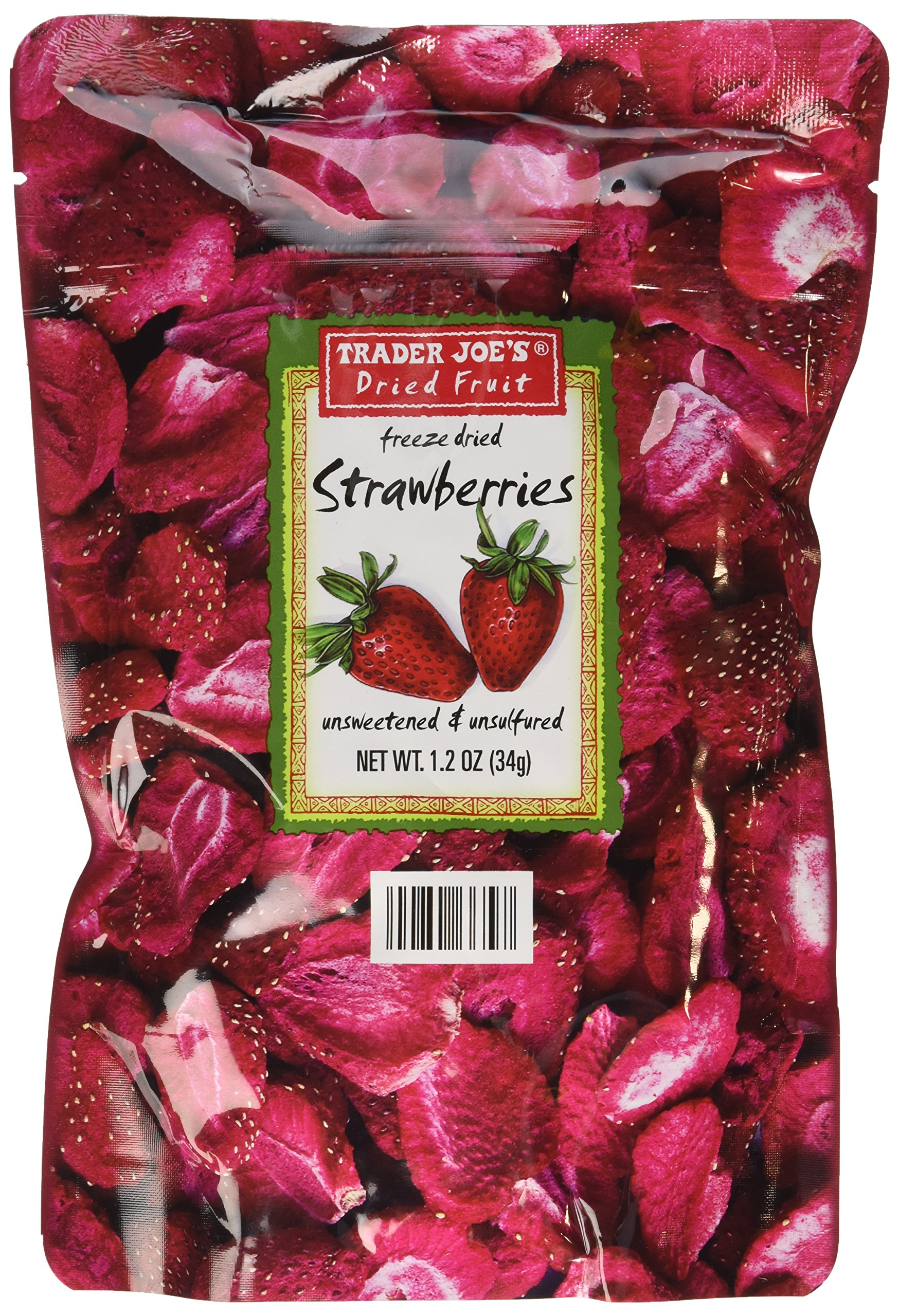3 Pack Trader Joe's Dried Fruit Freeze Dried Strawberries Unsweetened and Unsulfured by Trader Joe's