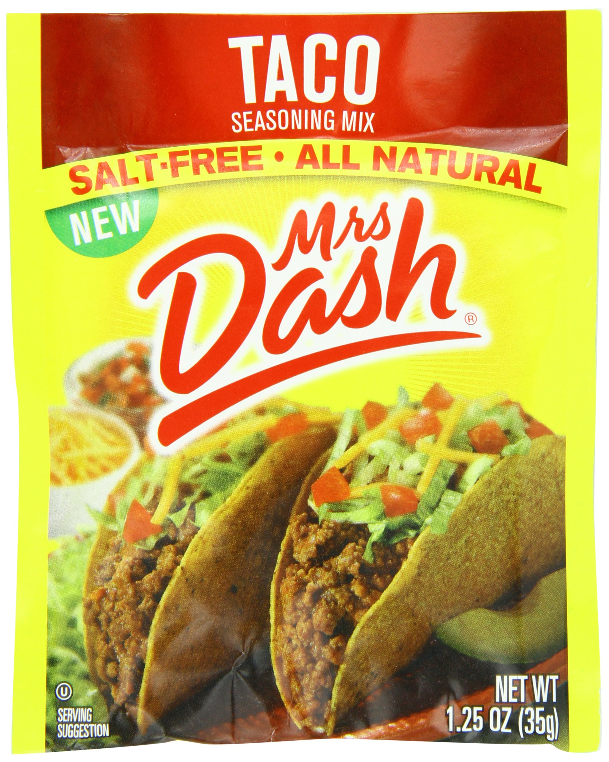 Mrs. Dash, Seasoning Mix, Taco, 1.25 Ounce (Pack of 12)