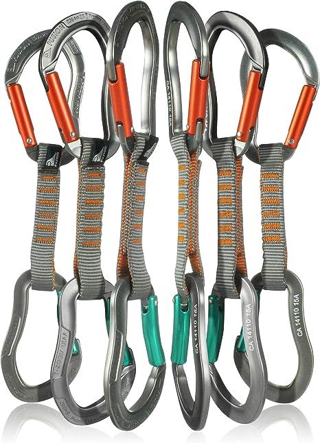 Fusion Climb 6-Pack 11cm Juego Quickdraw con Zoom Techno Zoom Carabiner Naranja/Zoom Techno Zoom Carabiner